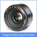 YONGNUO YN 50 мм Объективом F1.8 Большой Апертурой Автофокус Объектив Ю. Н. 50 YN50 для Canon EOS DSLR Камеры В НАЛИЧИИ + бесплатная доставка