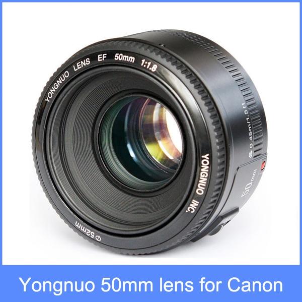 ФОТО YONGNUO YN 50mm F1.8 Lens Large Aperture Auto Focus Lens YN 50 YN50 for Canon EOS DSLR Cameras IN STOCK + free shipping