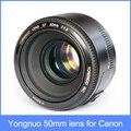 Yongnuo yn yn 50mm lente de gran apertura f1.8 lente de enfoque automático 50 yn50 para canon eos dslr cámaras en stock + free gratis