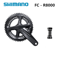 Shimano ULTEGRA FC R8000 170 мм 172,5 мм 175 мм 50 34 Т 52 36 т 53 39 т с BBR60 11 Скорость дороги велосипед шатуны