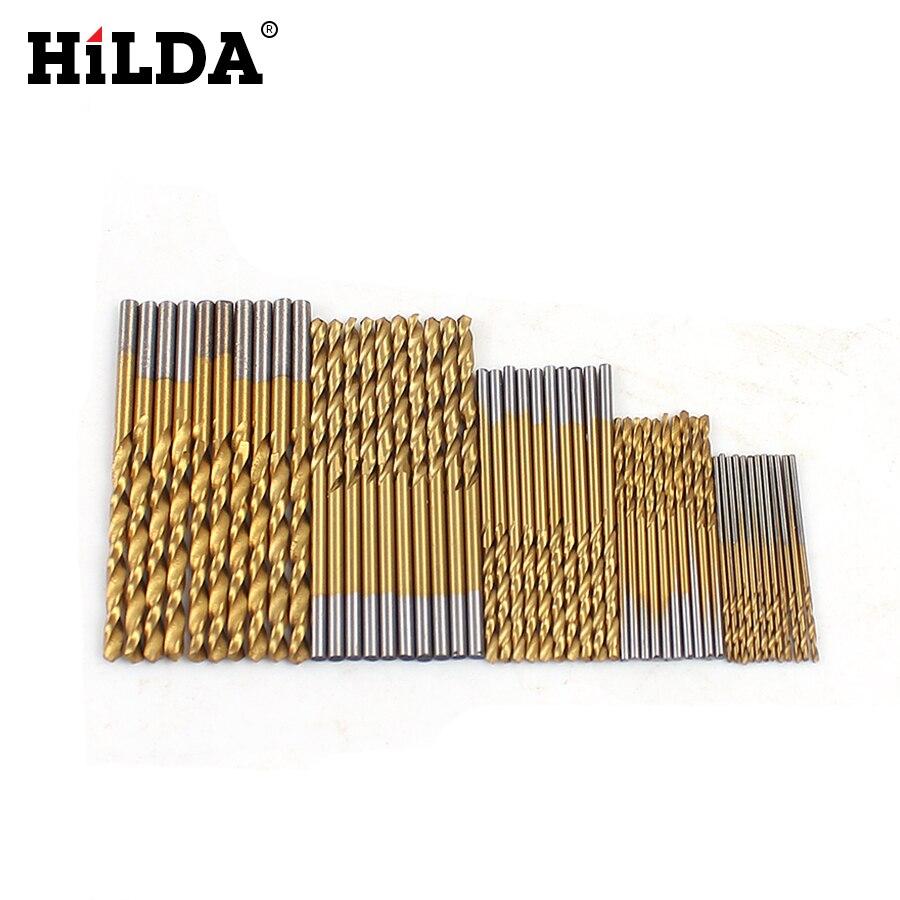 Набор сверл HILDA для деревообработки, 50 шт./компл., набор сверл для обработки древесины из высокопрочной стали 1/1, 5/2/2, 5/3 мм