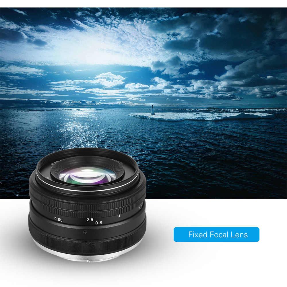 Objectif de mise au point manuelle fixe 50mm F/2.0 pour appareil photo sans miroir Sony E Mount A6500 A9 A6300 A6000 A5100 A5000 NEX7 NEX6 NEX5N NEX5R
