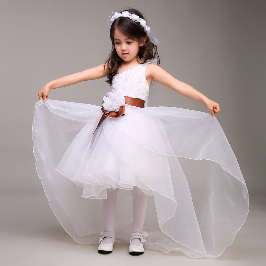 winter flower girl dresses for weddings Lace little girls pageant ...