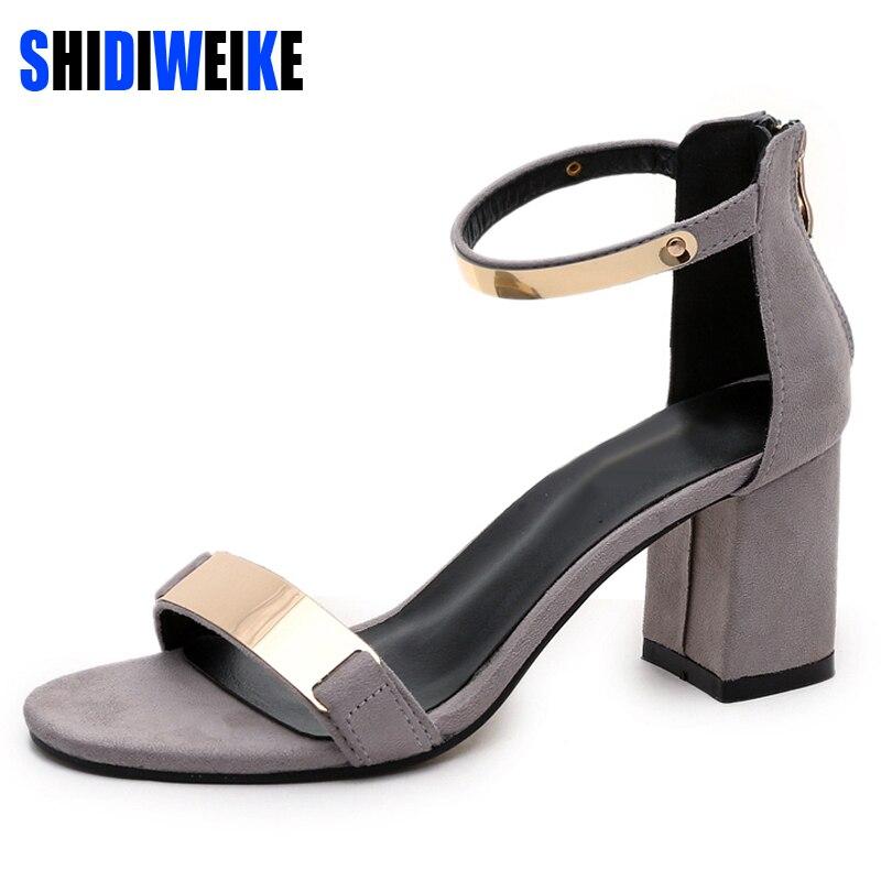 71977261528 SHIDIWEIKE zapatos de las señoras de verano 2019 sandalias de las mujeres  Sandalias de tacón alto de fiesta