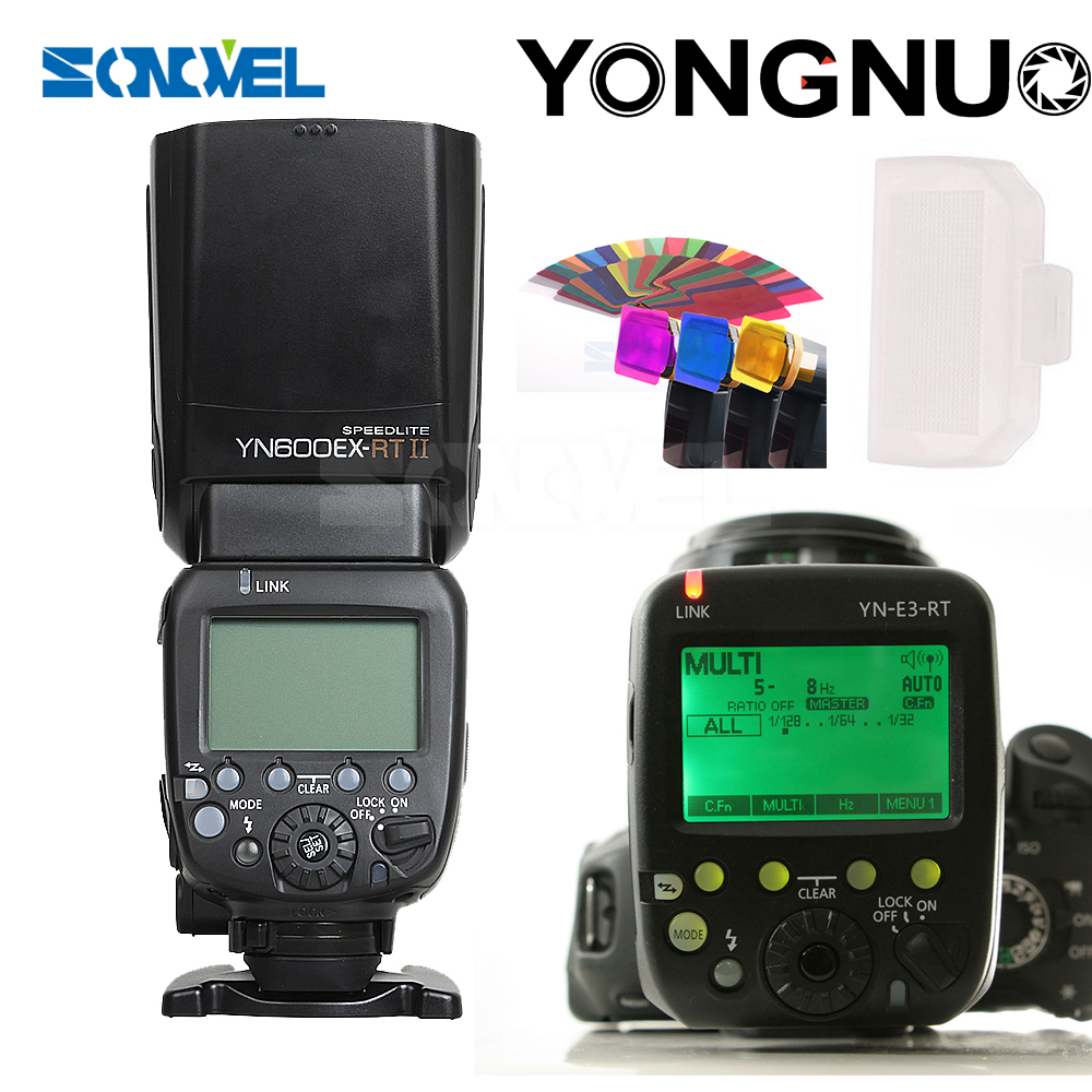 YONGNUO YN600EX-RT II 2.4G Wireless HSS 1/8000s Master Flash Speedlite for Canon Camera as 600EX-RT YN600EX RT II + GIFT KIT yongnuo 3x yn 600ex rt ii 2 4g wireless hss 1 8000s master flash speedlite yn e3 rt flash trigger for canon eos camera 5d 6d