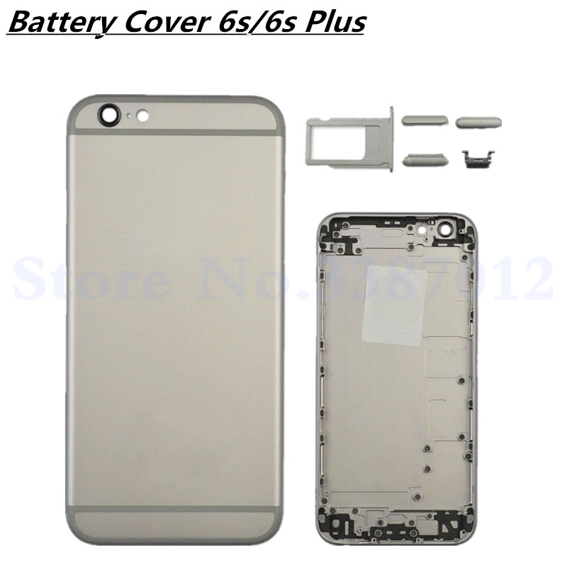 For Apple iPhone 6s/6s Plus Back Battery Cover Rear Door Housing Case Replacement With Volume keypad Power Keypad For iPhone6s