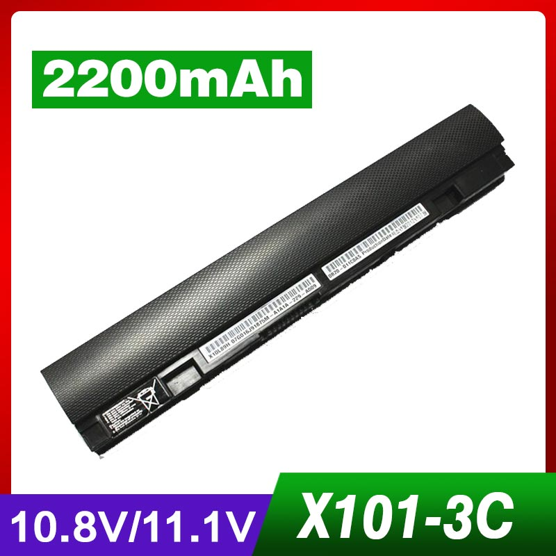 3 Cell New Laptop Battery for ASUS Eee PC X101 X101C X101CH X101H A31-X101 A32-X101 Free Shipping free shipping new 15 2v 64wh genuine b41n1341 battery for asus asus q502l q502la series laptop
