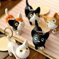 5 CM Adorável Gato Dos Desenhos Animados Figuras de Ação Anime Brinquedos Modelo de Decoração Presentes Do Bebê Crianças Brinquedos Estatueta Colecionáveis Gato Pingentes Chave