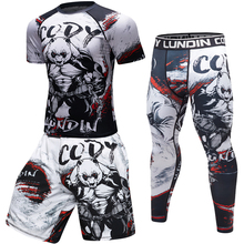 Brand New Men Compression Work Out long/Short sleeve Tees 3D Gorilla Fitness Tig