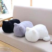 Nowy Kreatywny Kot Pluszowe Zabawki Miękkie Wypchanych Zwierząt Lalki Słodkie tłuszczu Powrotem Kot Poduszki Zabawki Kawaii Piękne Poduszki Dzieci Urodziny Gift3
