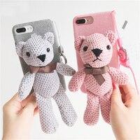 Luxus Winter Furry Warm Phone Cases Für iPhone 7 Fall iPhone 8 nette Karikatur Schöne Weiche Bär Abdeckung Für iPhone 7 Plus 8 Plus