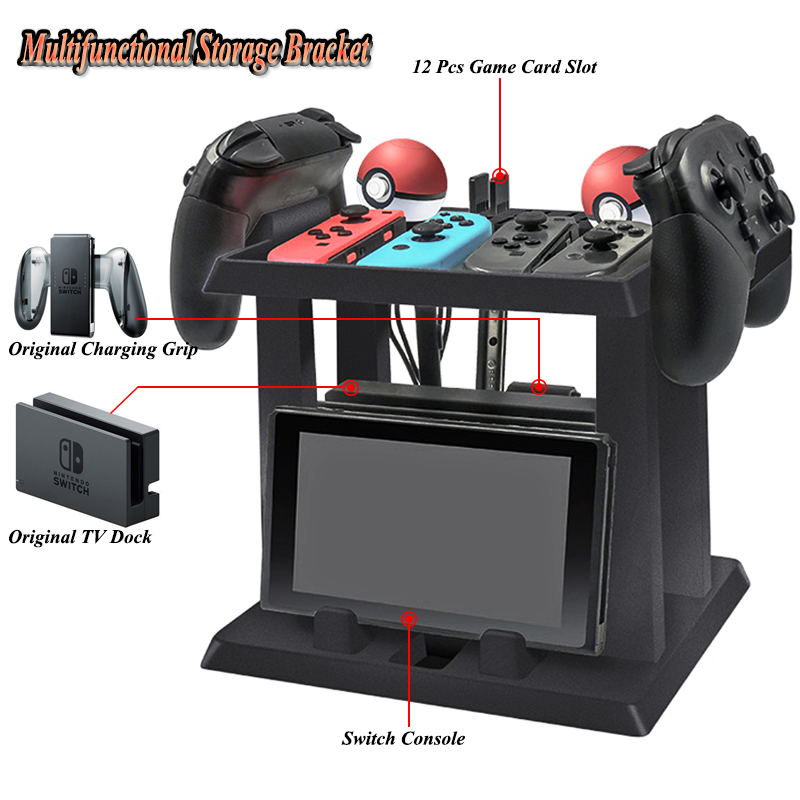 Nintend Switch Accessories Multifunctional Storage Bracket Stand with Game Discs Controller Carrying for Nintendo Switch Gaming image