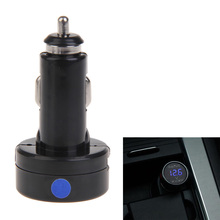 Car Digital Voltmeter Electronic Cigarette Lighter With Phone Charger