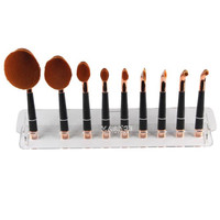 9 Hole Microscler Oval Tooth Makeup Brushes Holder Drying Rack Organizer Cosmetic Shelf Tool Holder Set Eyeshadow Brush Shelf Makeup Tools & Accessories
