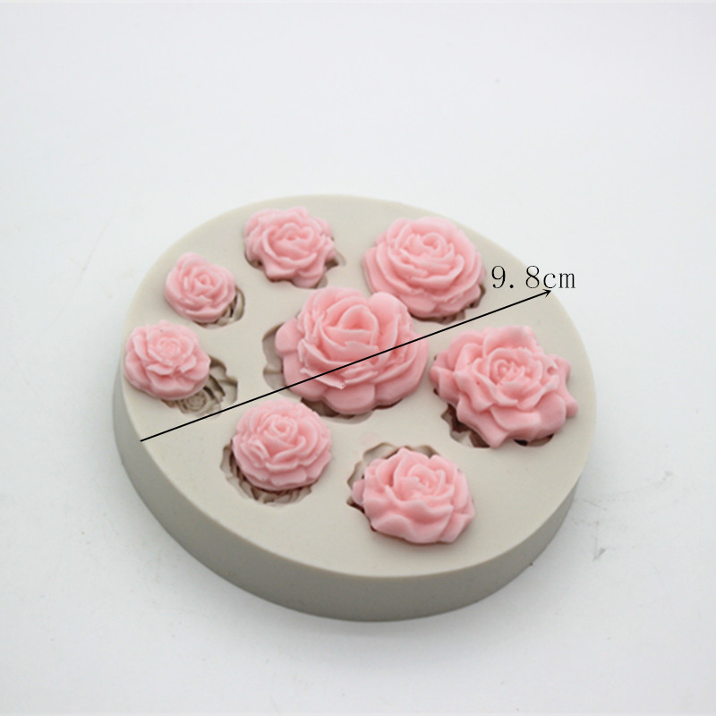 Mini 3d flower sugar craft chocolate fondant Silicon gel mold cake decoration silicone soap molds for soap making in Soap Molds from Home Garden