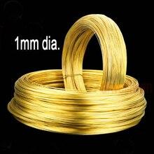 Медный провод H62 диаметром 1 мм, медный провод длиной 5 метров, медный проводник, новый медный трос, бронзовый провод