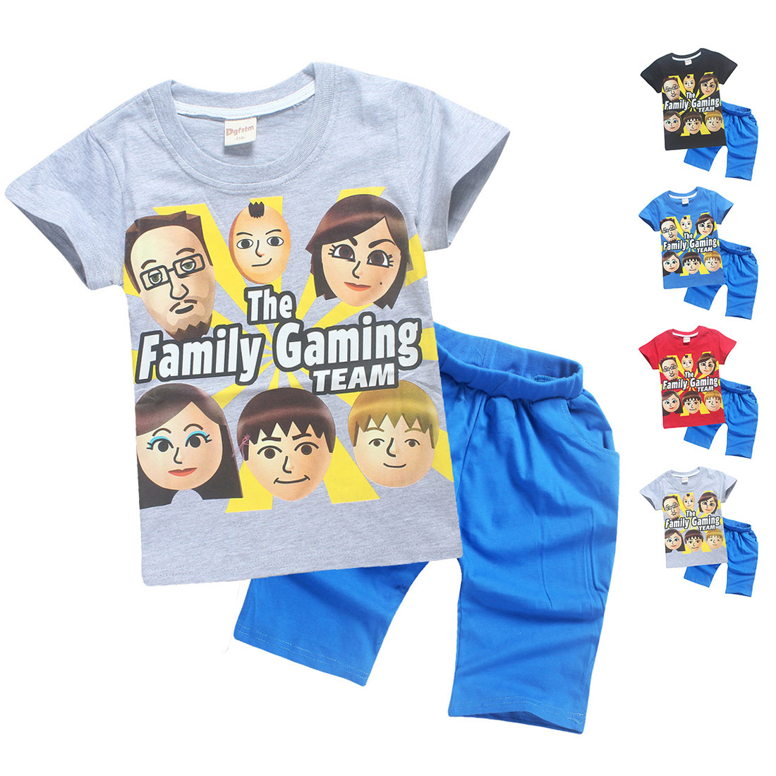 100% Cotton FGTeeV Faces for Kids Clothes Summer T Shirts for Boys Girls Tops Youth Youtube Family Gaming Duddy Child T-shirt