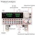 Тестер емкости постоянного тока электронный программируемый цифровой контроль нагрузки 150 Вт Профессиональный электрический тестер батар...
