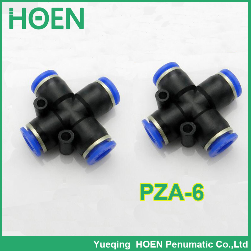 100 pcs PZA APZA pneumatic tube <font><b>air</b></font> <font><b>connector</b></font> <font><b>fitting</b></font> pipe PZA-6 6mm one touch push in pipe <font><b>fittings</b></font> image