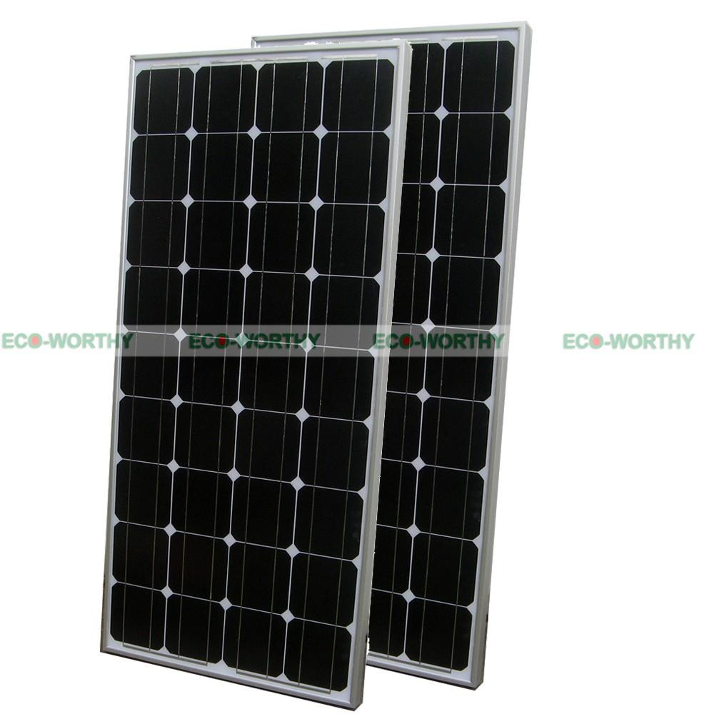 2x100W 200W 12V Mono Solar Panel for off Grid Solar System Kit for Caracan Home 300w 12v poly solar panel kit advanced rv solar kit 3pcs 100w solar panel for off grid solar system for home