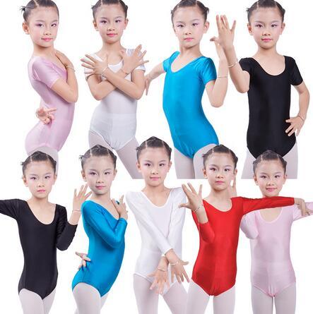 New Long Sleeve Ballet Leotards For Girls Bodywear Spandex Children Kids Dance Leotards Turnpakje Justaucorps Gymnastique Fille