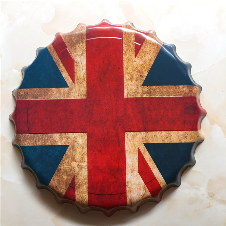Tin Sign British Flag Vintage Metal Painting Beer Lid Bar Pub Hanging Ornaments Wallpaper Decor Retro Mural Poster Craft In Plaques Signs From Home