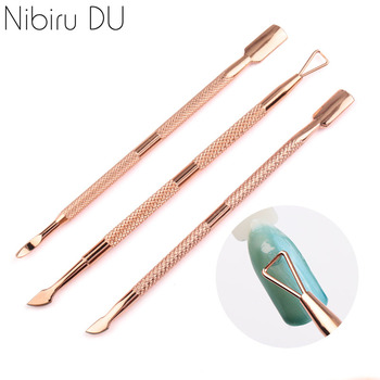 1 Pcs Nail Cuticle Pusher Stainless Steel Cuticle Remover Pusher Dead Skin Pedicure Manicure Care Cleaner Manicure Tools beautybigbang new stainless steel nail scissors double sided cuticle pusher rainbow dead skin remover manicure nail art tools