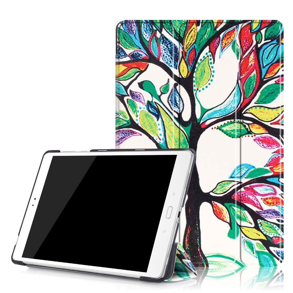 Ultra Slim Flip Stand Print PU Leather Skin Case Funda Cover For Asus Zenpad 3S 10 Z500M Z500 Z500KL P027 Tablet + Film + Pen ultra thin smart flip pu leather cover for lenovo tab 2 a10 30 70f x30f x30m 10 1 tablet case screen protector stylus pen