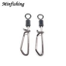 Minfishing 1000 PCS Fishing Tools Rolling Swivels Stainless Steel Swivel Fishing Accessories for Sea Fishing
