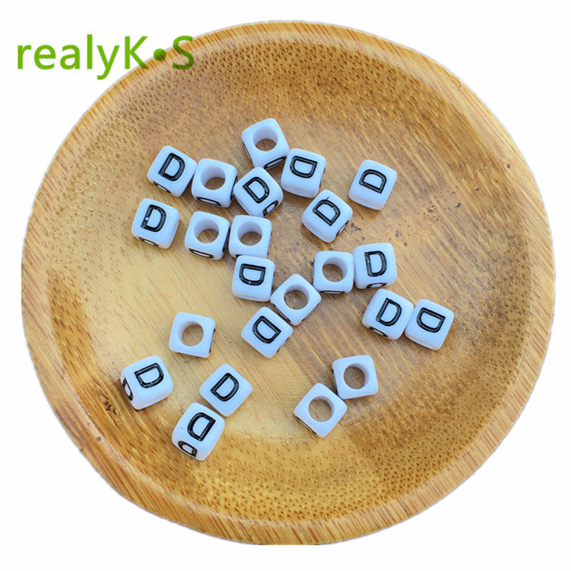Free Shipping Cube Single R Printing Gold Acrylic Letter Beads 500pcs 2600pcs 6*6mm Square Plastic Alphabet Jewelry Spacer Beads For Fast Shipping Beads & Jewelry Making