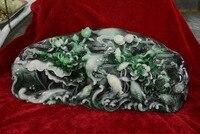 Редкий Старый Династии Цин природный Шушан камень, рыбы, с резьбой, лучшая коллекция и украшения, Бесплатная доставка,