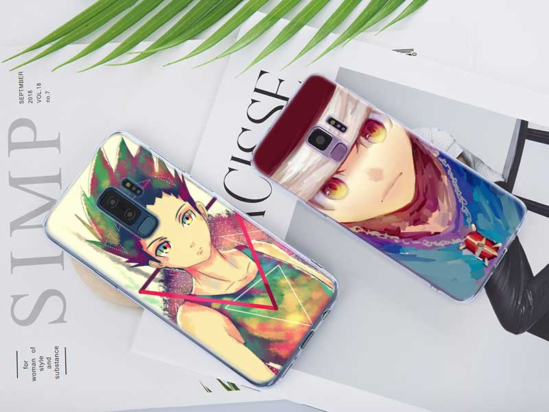 Transparent Soft Silicone Phone Case anime hunter x hunter For Samsung Galaxy S9 S8 Plus S7 S6 S5 Edge Note 9 8 in Fitted Cases from Cellphones Telecommunications