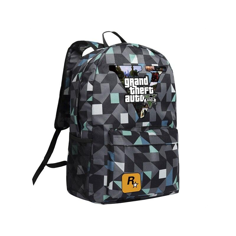 Zshop GTA5 Backpacks for Teenage Boys School Bags Grand Theft AutoV Backpacks Schoolbags Oxford Mochila High School Bags GTA delune children backpacks hard shell eva school backpacks for boys cartoon printed school bags for 1 3 grade boys schoolbags