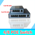 Com 8-port Switch PoE 8 + 1 porto de desktop Fast Ethernet Switch câmeras de rede Dahua alimentado POE31008P