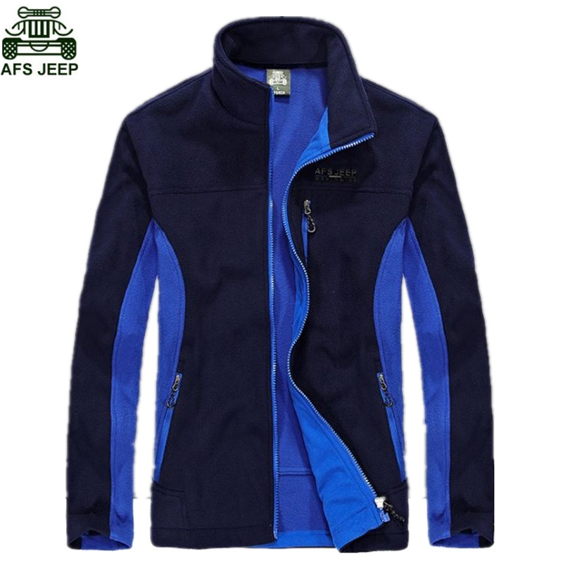 AFS JEEP Brand Polar Fleece Thermal Coats Men Hiking Camping Outdoor Fishing Climbing Clothing Hunting Clothes Soft Shell Sport new brand men soft shell clothing warm polar fleece outdoor fishing cardigan jacket autumn winter man fishing shirt coat red
