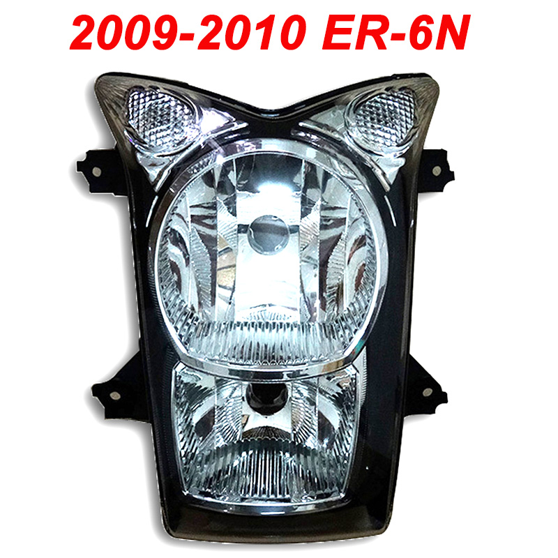 For 09-10 Kawasaki ER6N ER-6N ER 6N Motorcycle Front Headlight Head Light Lamp Headlamp CLEAR 2009 2010 kawasaki er 6n 2013