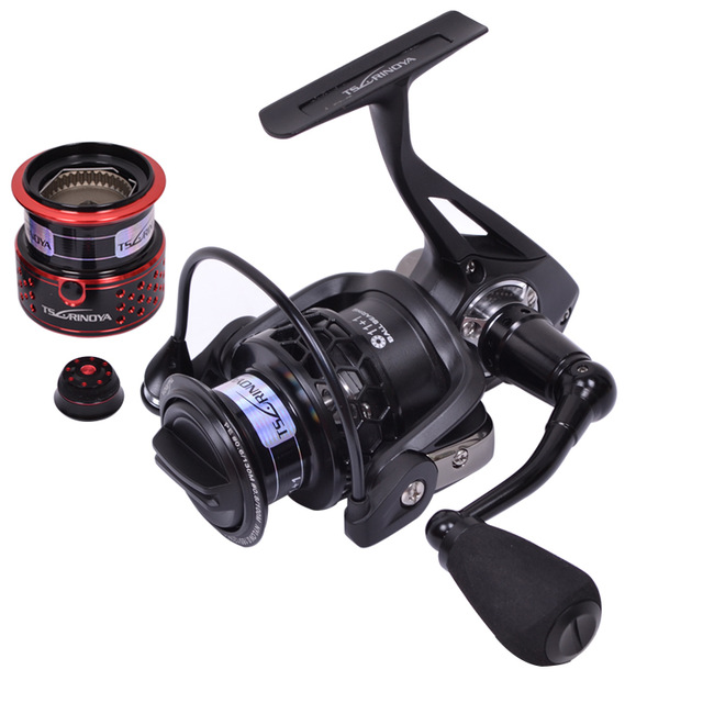 Metal Tsurinoya TSP2000 12BB gear ratio 5.2:1 260g 2 Spools Spinning Fishing Reel tackle