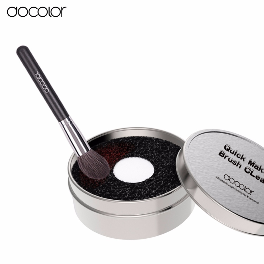 New Arrival Docolor brush clean box 1pcs suitable for makeup brushes clean beauty essential make up tools 2016 new arrival black dual purpose eyelash assist device extension beauty supplies brow brush lash comb makeup brushes tools
