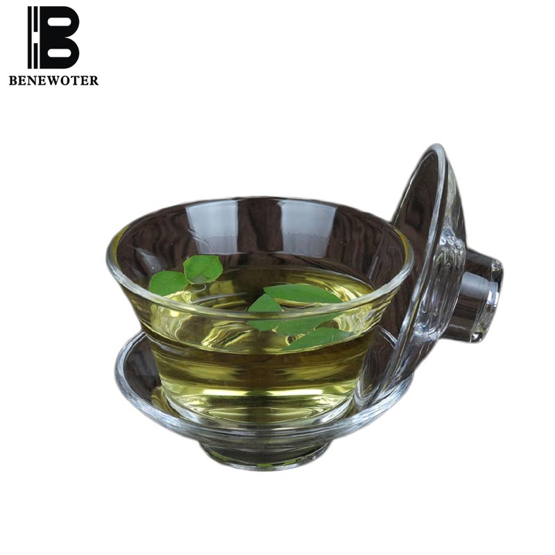 Creative Heat-resistant Transparent Glass Teapot with Lid Saucer Kit Office Drinkware Gaiwan Home Teaware Tea Bowls for Gifts