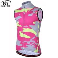 KIDITOKT Men Summer Cycling Vests Bicycle Undershirt Quick Dry Reflective Sleeveless Cycling Vests Bike Jerseys Sports