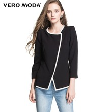Vero Moda Brand Hot Women Fashion elegant o-neck solid business Thin Casual Jackets Tops high quality Coat Outerwear 314317007