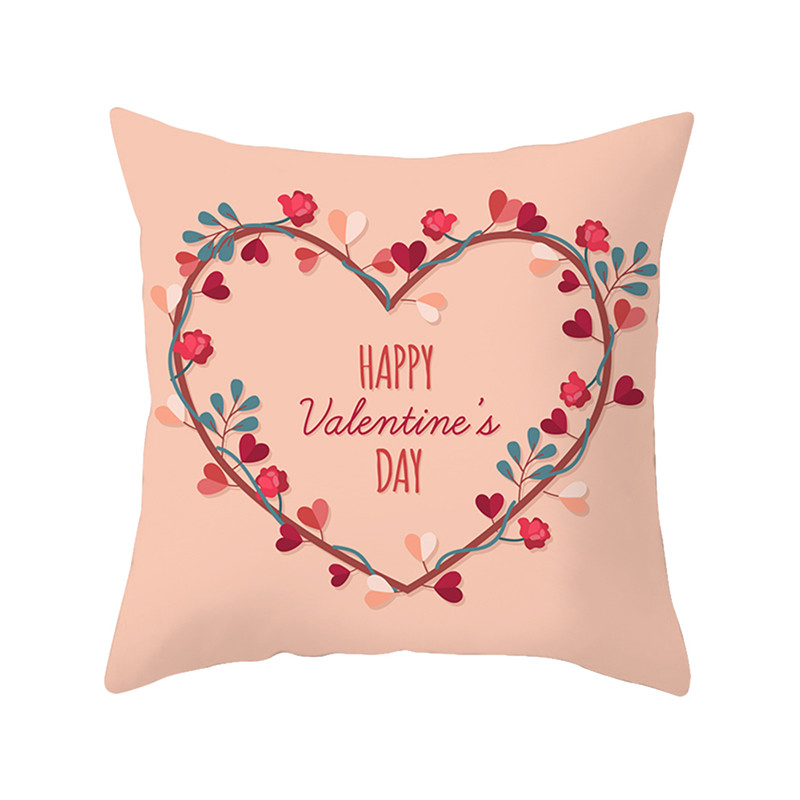 Valentine/'s Day Rose Love Linen Pillow case sofa Cushion Cover Home Decoration
