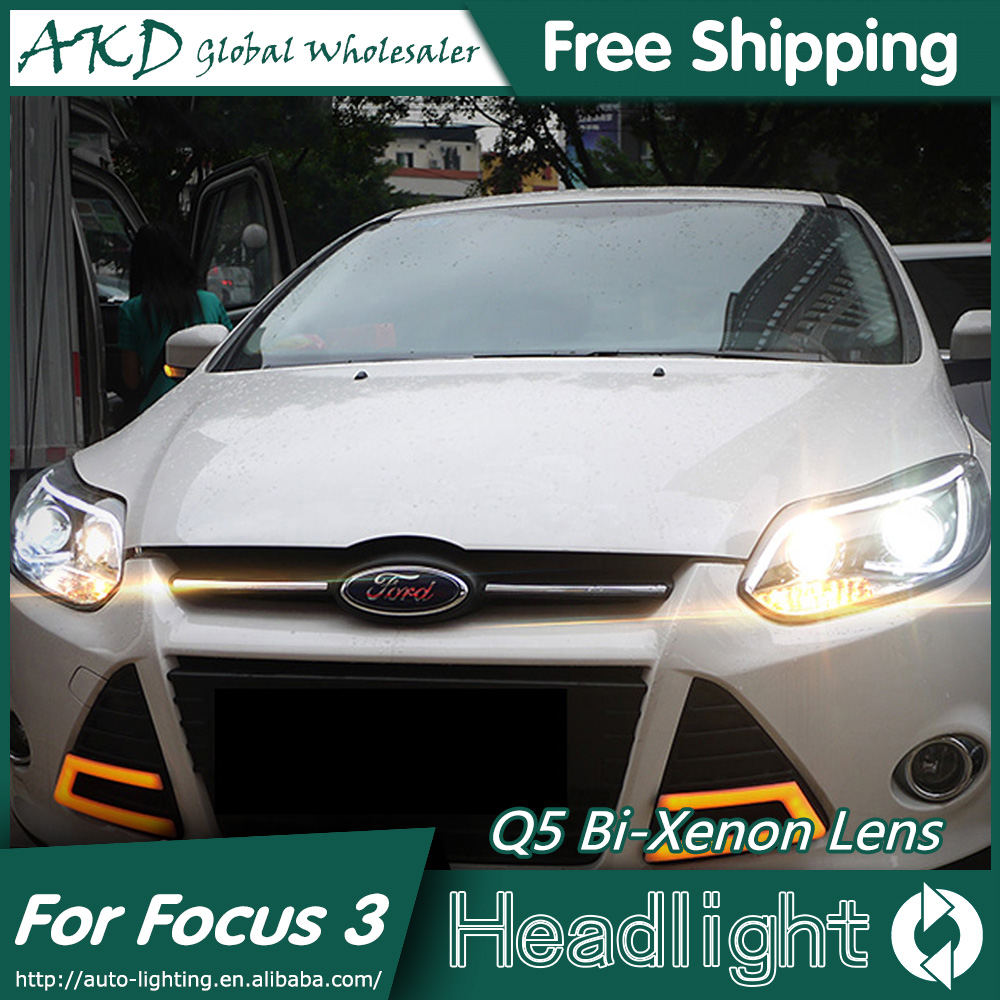 AKD Car Styling for Ford Focus Headlights 2012 2014 TLZ Focus 3 LED  Headlight DRL Bi Xenon Lens High Low Beam Parking Fog Lamp-in Car Light  Assembly from ...
