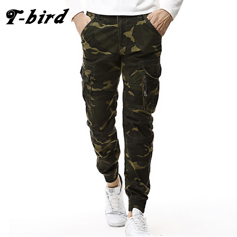 T-Bird Arrived 2018 Brand Casual Joggers Camouflage Compression Pants Men Cotton Trousers Calabasas Cargo Pants Mens Leggings