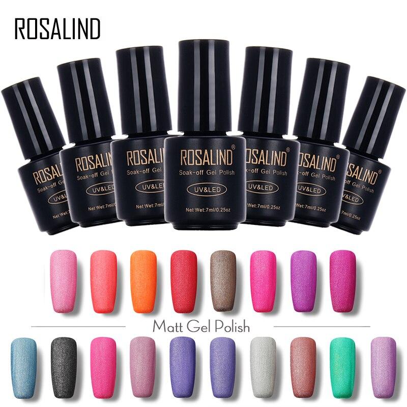 ROSALIND 7ml Matte Gel Nail Polish Soak Off UV LED Nails Polish ...