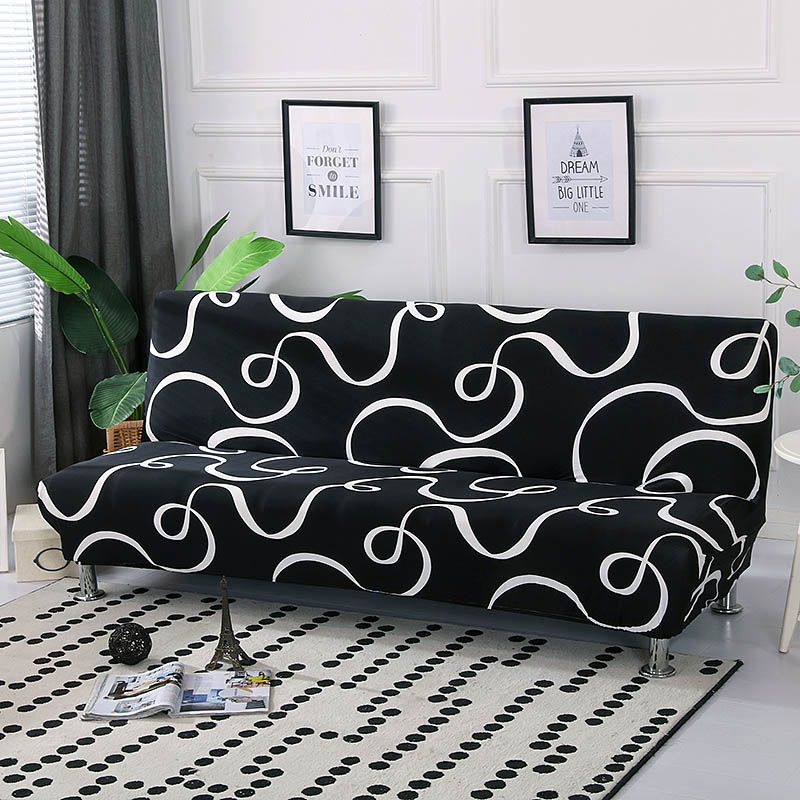 Remarkable Black White Sofa Bed Cover Stretch Couch Cover Without Armrest Folding Seat For Sofa Bed Cubre Single Seat Slip Cover Couch Cheap Chair Cover Rentals Ncnpc Chair Design For Home Ncnpcorg