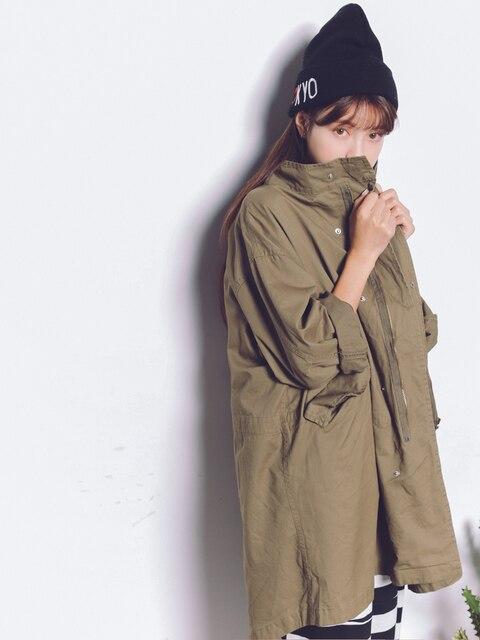 2016 Осень Женщин Траншеи Пальто Мой Друг Пальто Army Green 3730