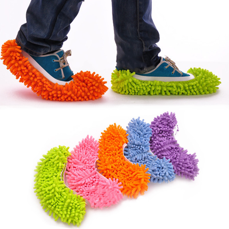 1PC Dust Mop Slipper House Cleaner Lazy Floor Dusting Cleaning Foot Shoe Cover Mops Slipper JS22