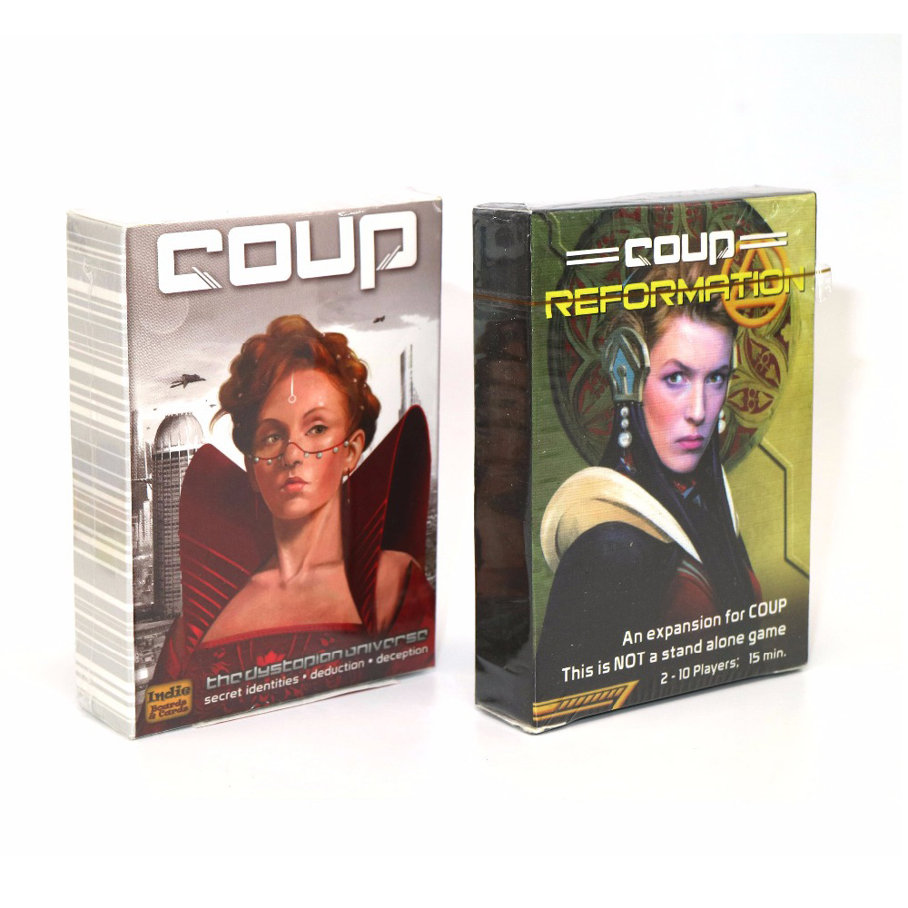 2020 Board Game Coup Full English Version Basic & Expansion Reformation Card Game For Home Party Playing Cards