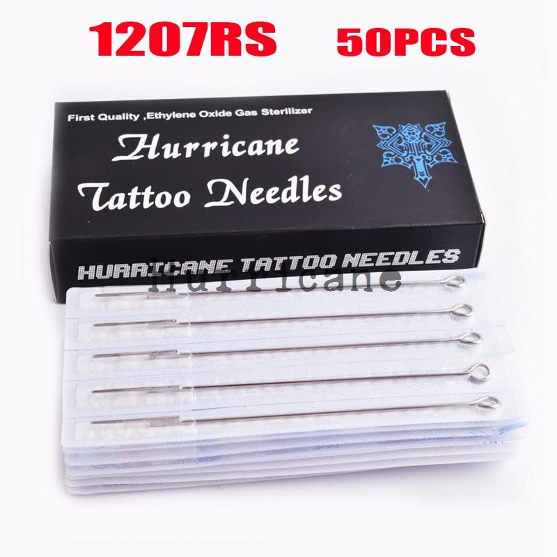 50pcsSet Sterilize Tattoo Needles Round Shader 1207RS,Tattoo Machine Sterile Disposable Needles,wholesale needles